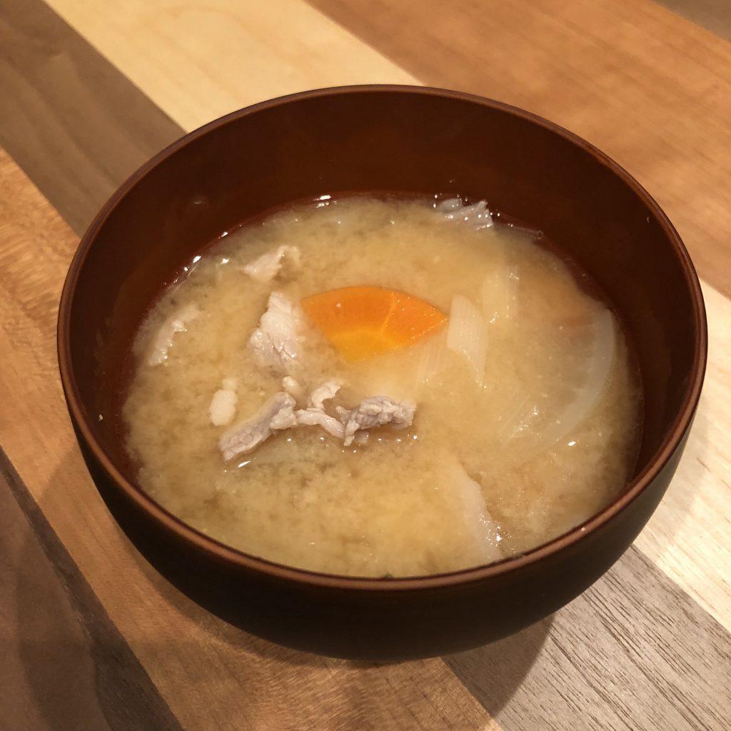 TONJIRU: pork miso soup