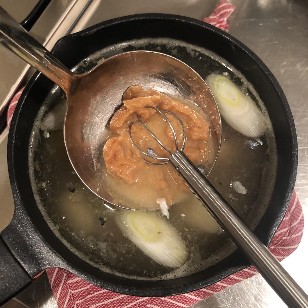 MACKEREL miso soup recipe