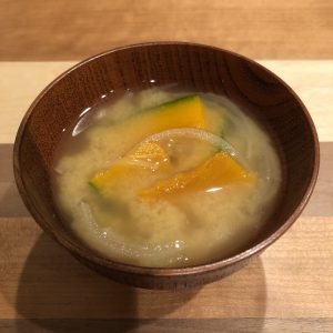 KABOCHA SQUASH miso soup recipe