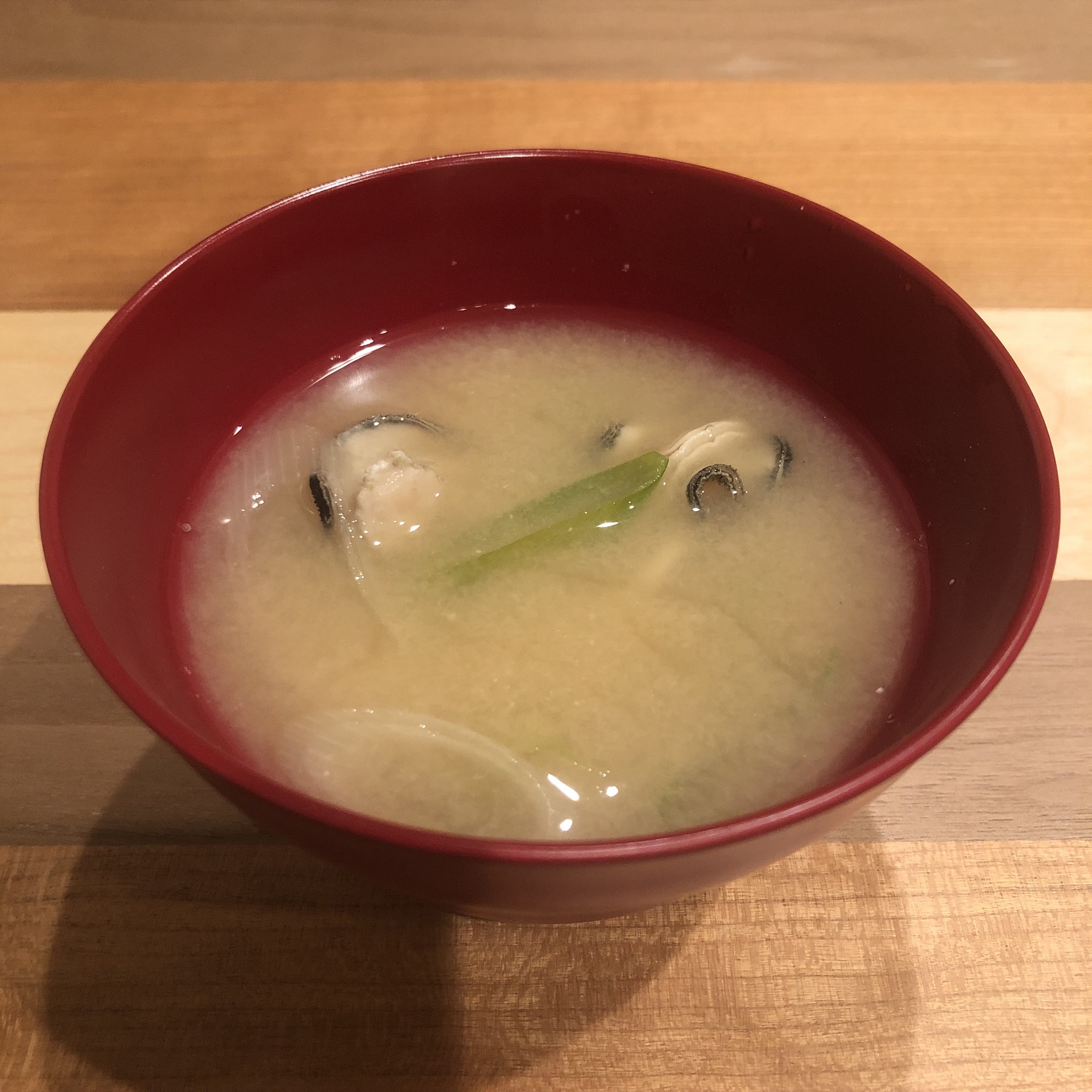 OYSTER miso soup