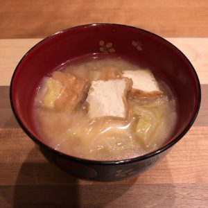 THICK DEEP-FRIED TOFU miso soup recipe