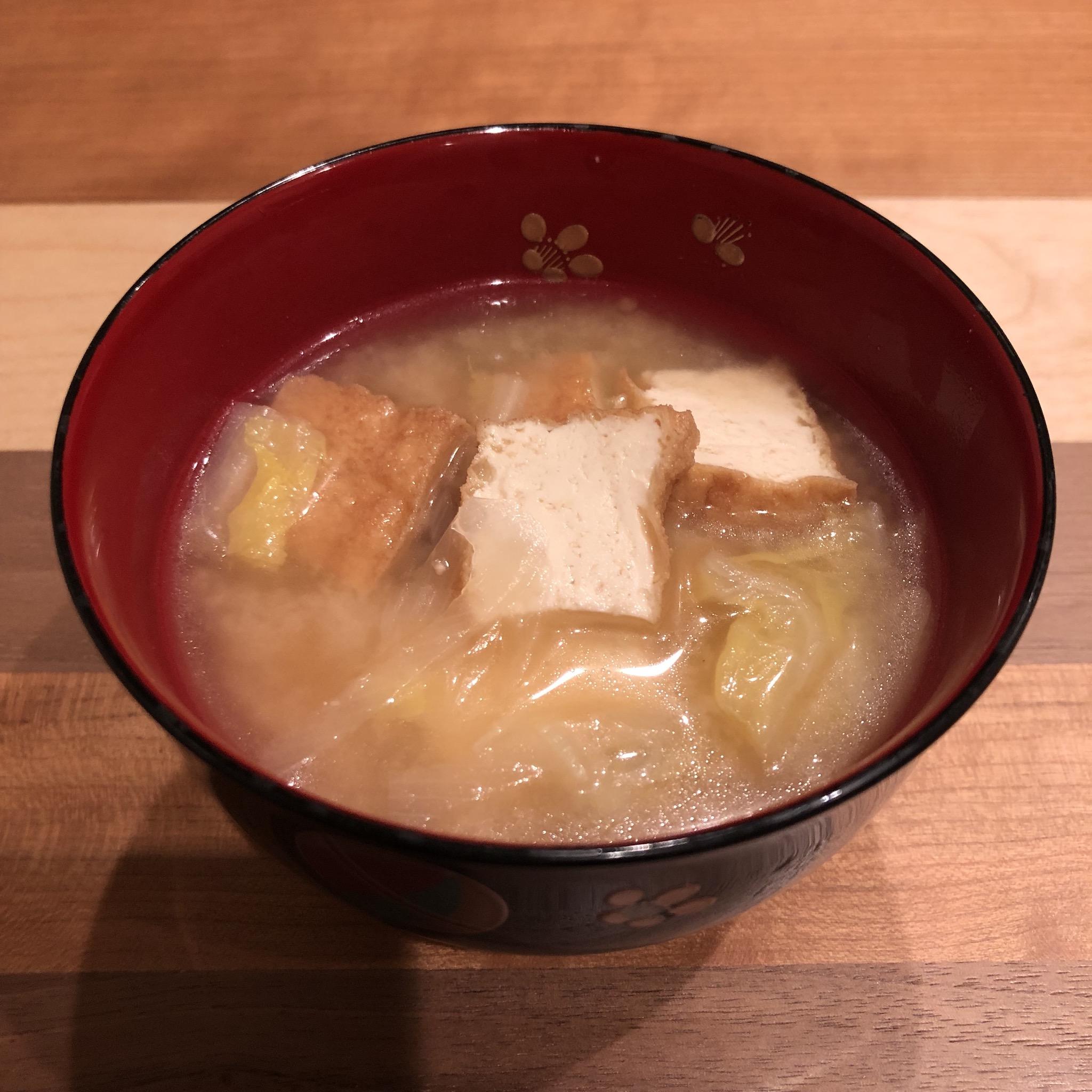 THICK DEEP-FRIED TOFU miso soup