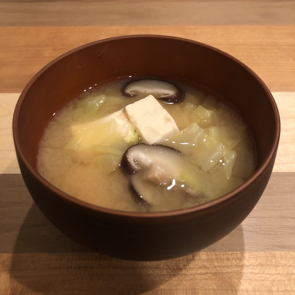 TOFU & CABBAGE miso soup
