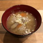 CHICKEN MEATBALLS miso soup