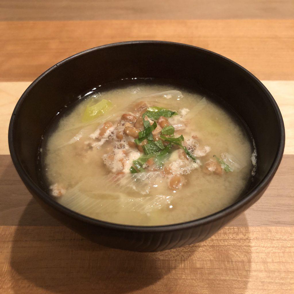 NATTO miso soup