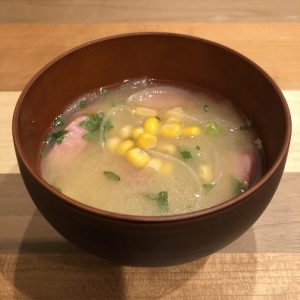 CORN miso soup recipe