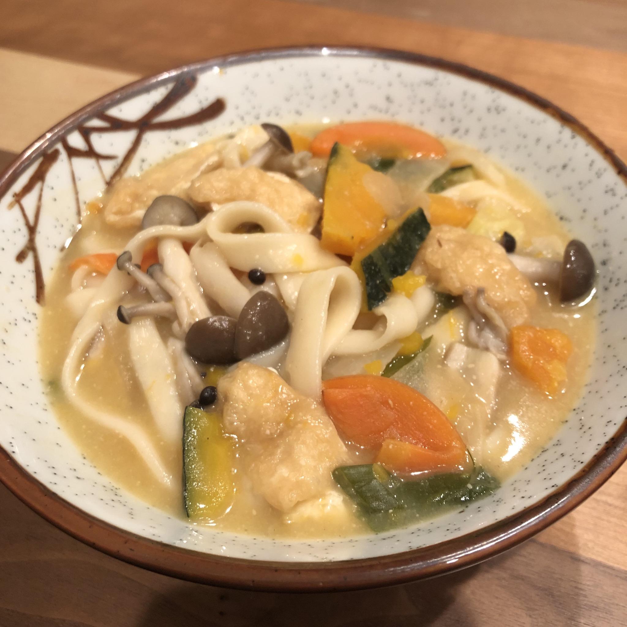 HOTO: flat noodles miso soup