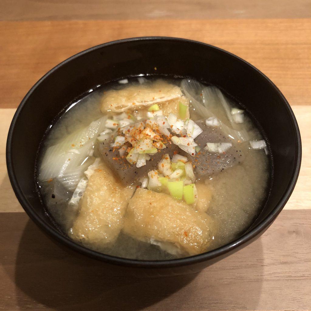 KONJAC miso soup