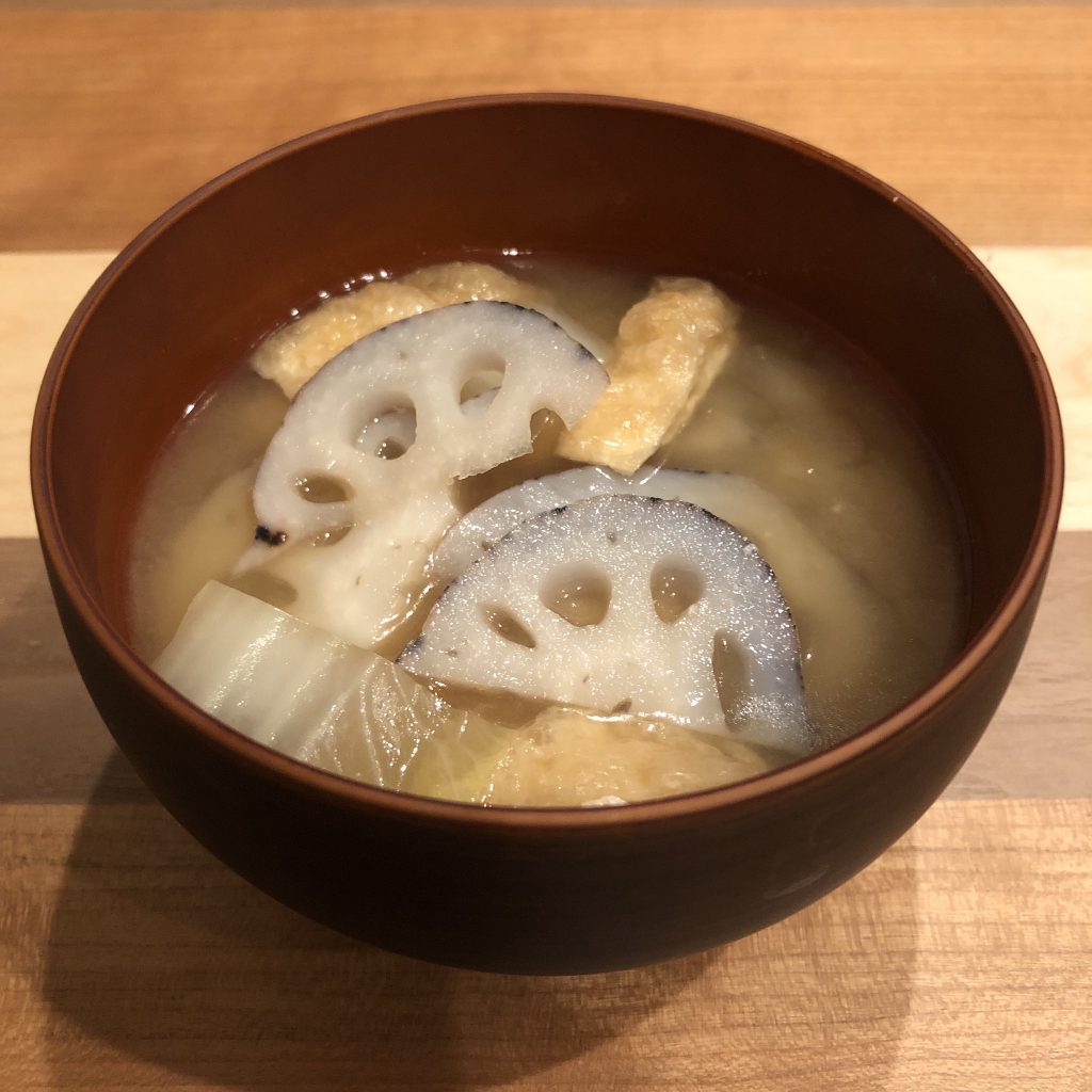 LOTUS ROOT miso soup