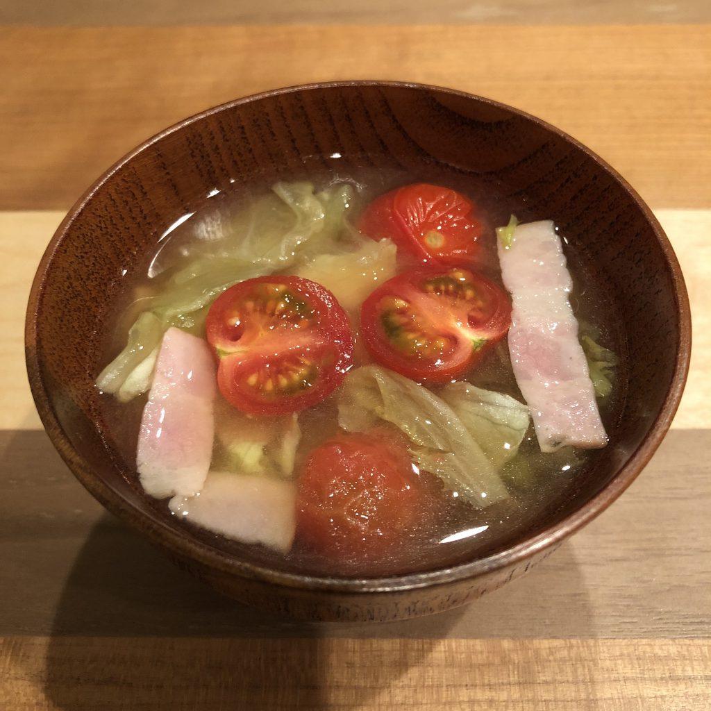 BLT miso soup