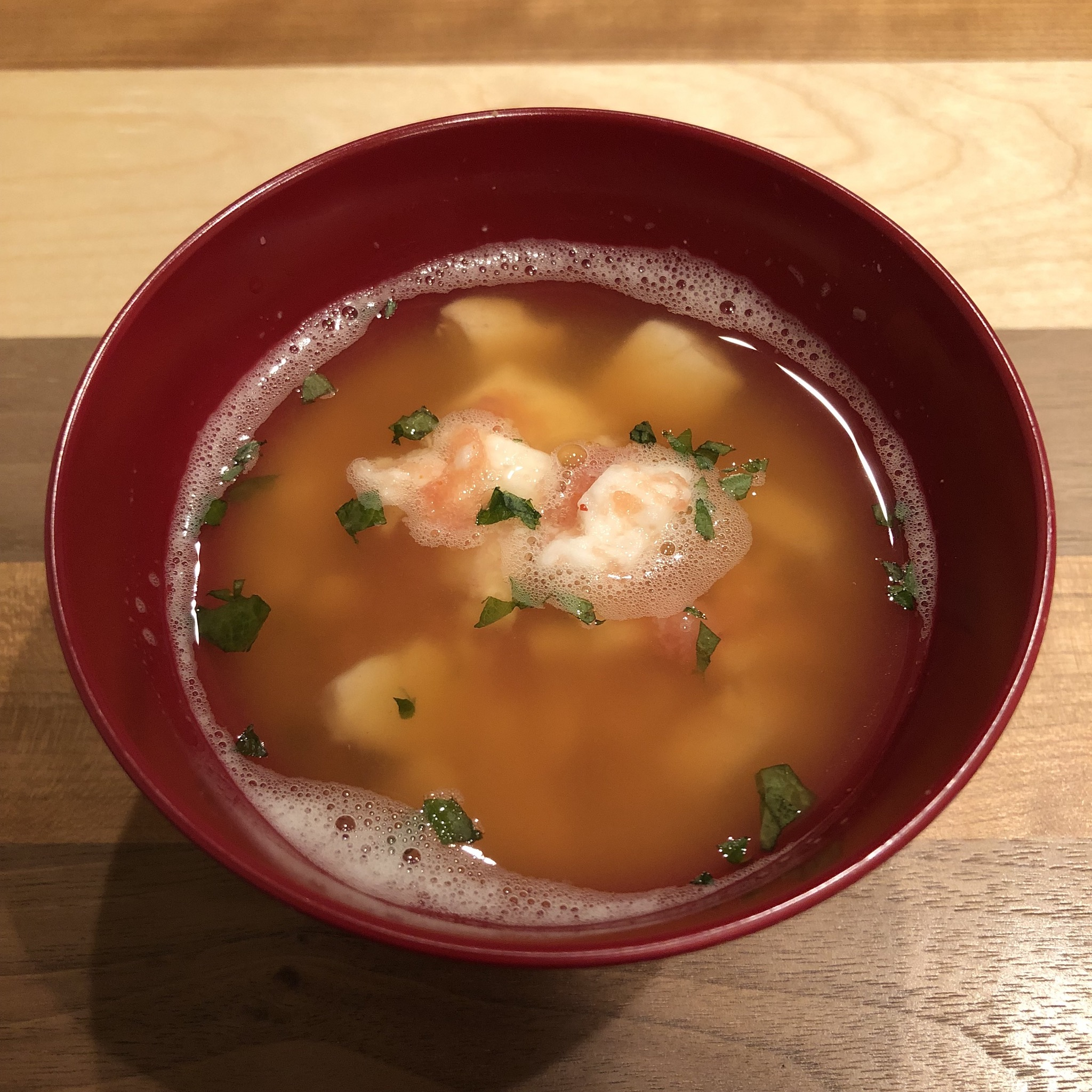 SPICY COD ROE & CHINISE YAM miso soup