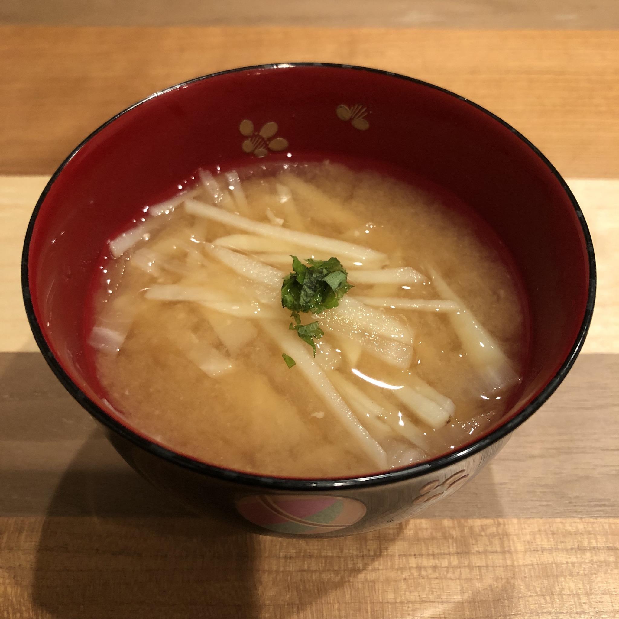 POTATO & DAIKON miso soup