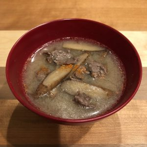 BEEF & BURDOCK miso soup recipe