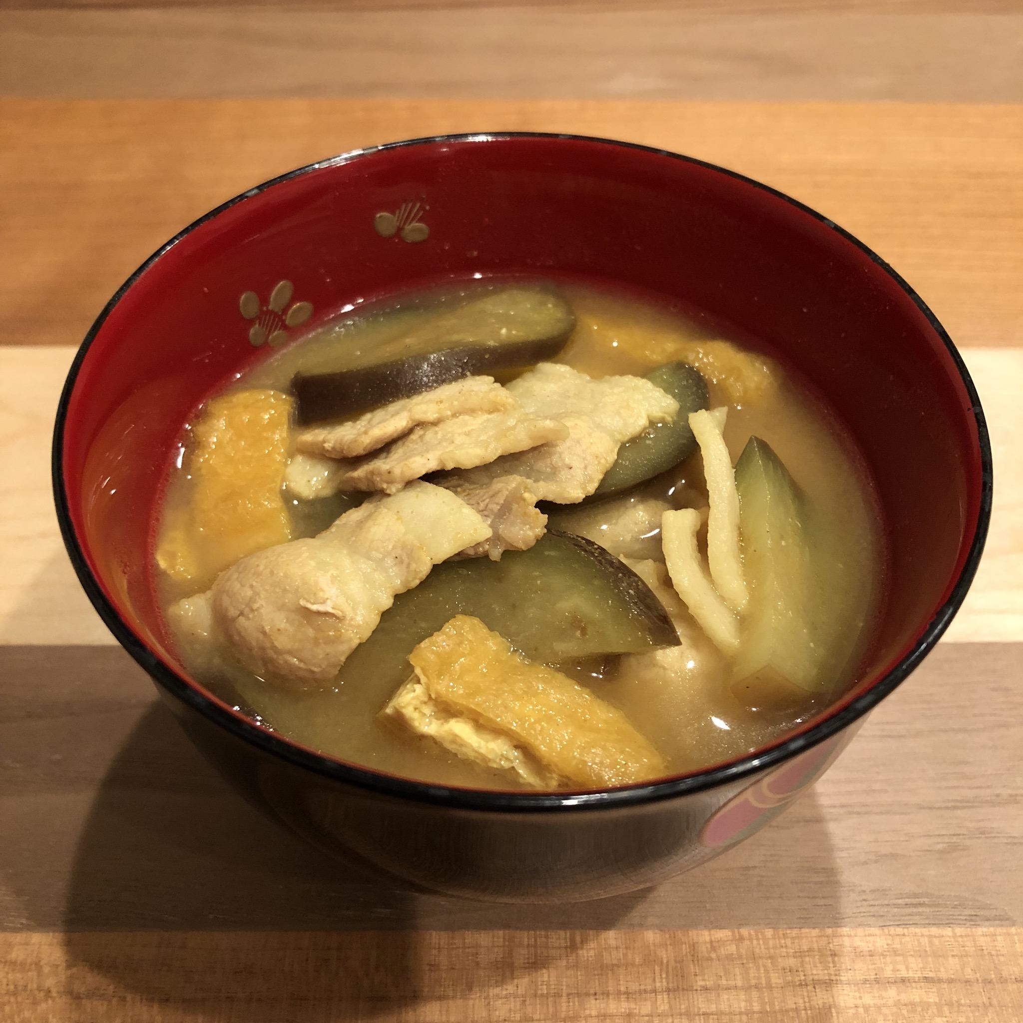 PORK CURRY miso soup