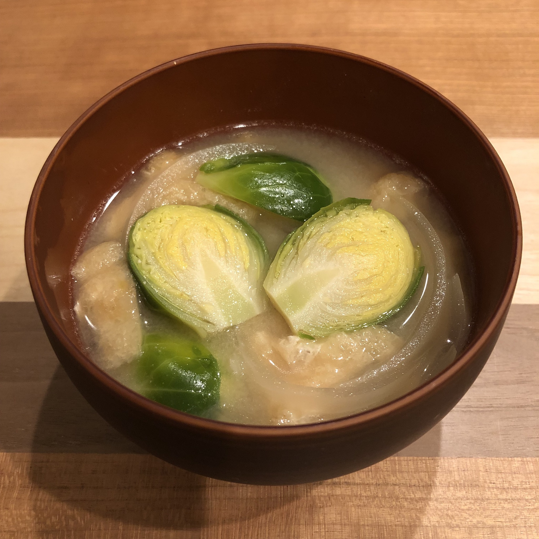 BRUSSELS SPROUTS miso soup