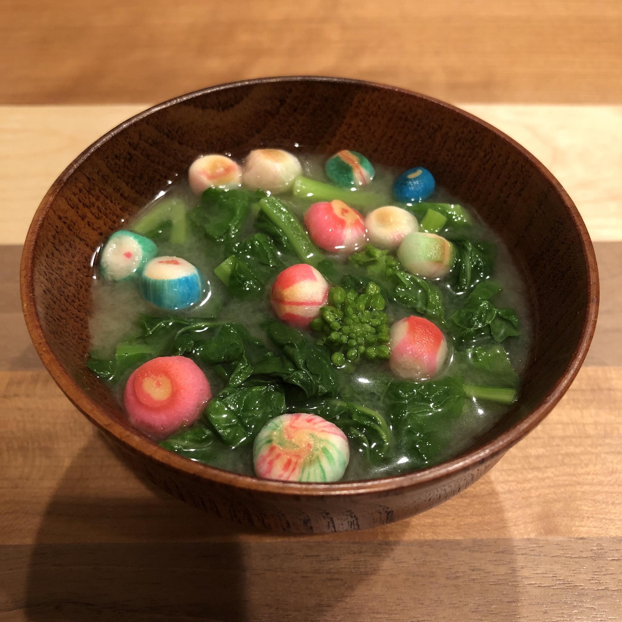 RAPE BLOSSOMS miso soup