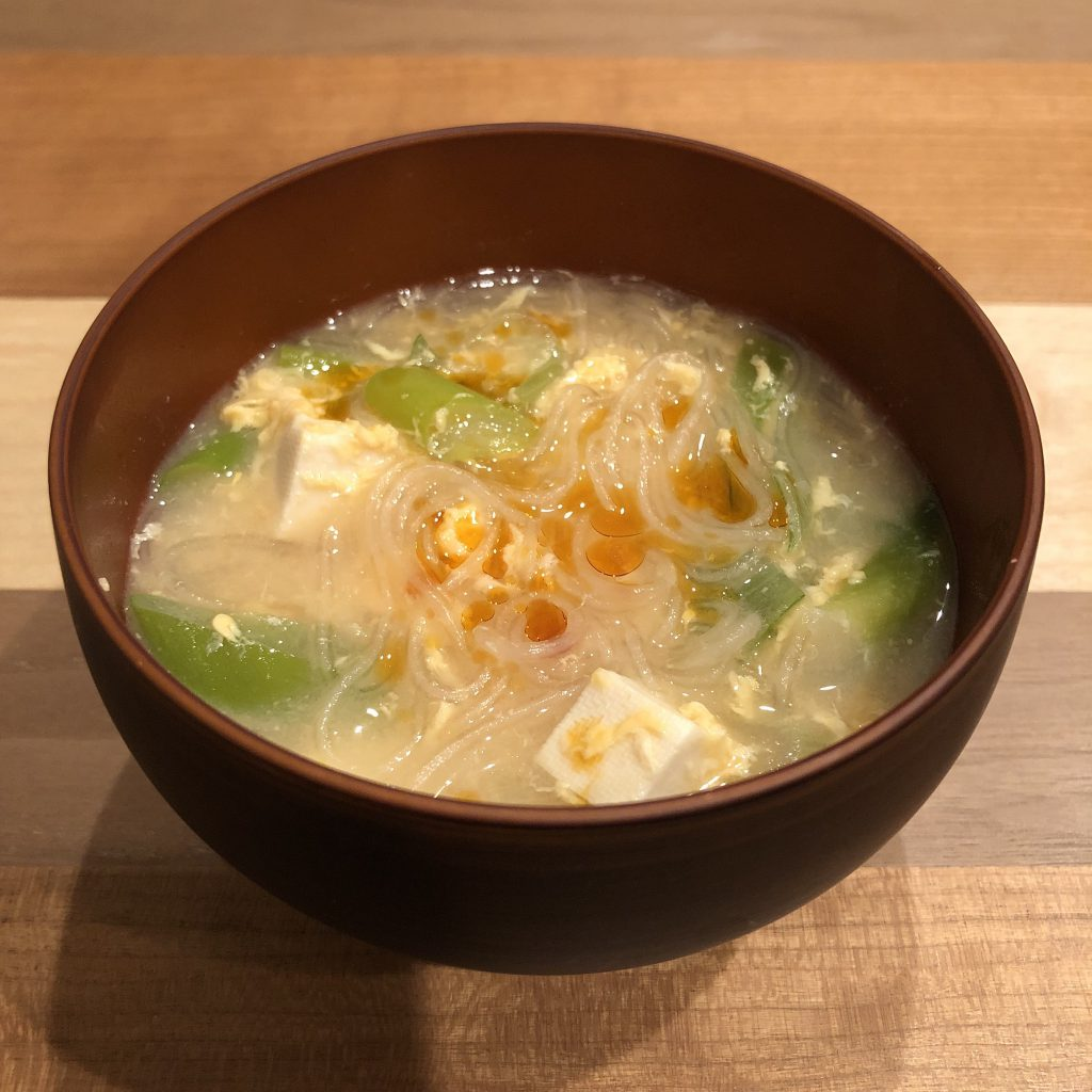 CELLOPHANE NOODLES miso soup