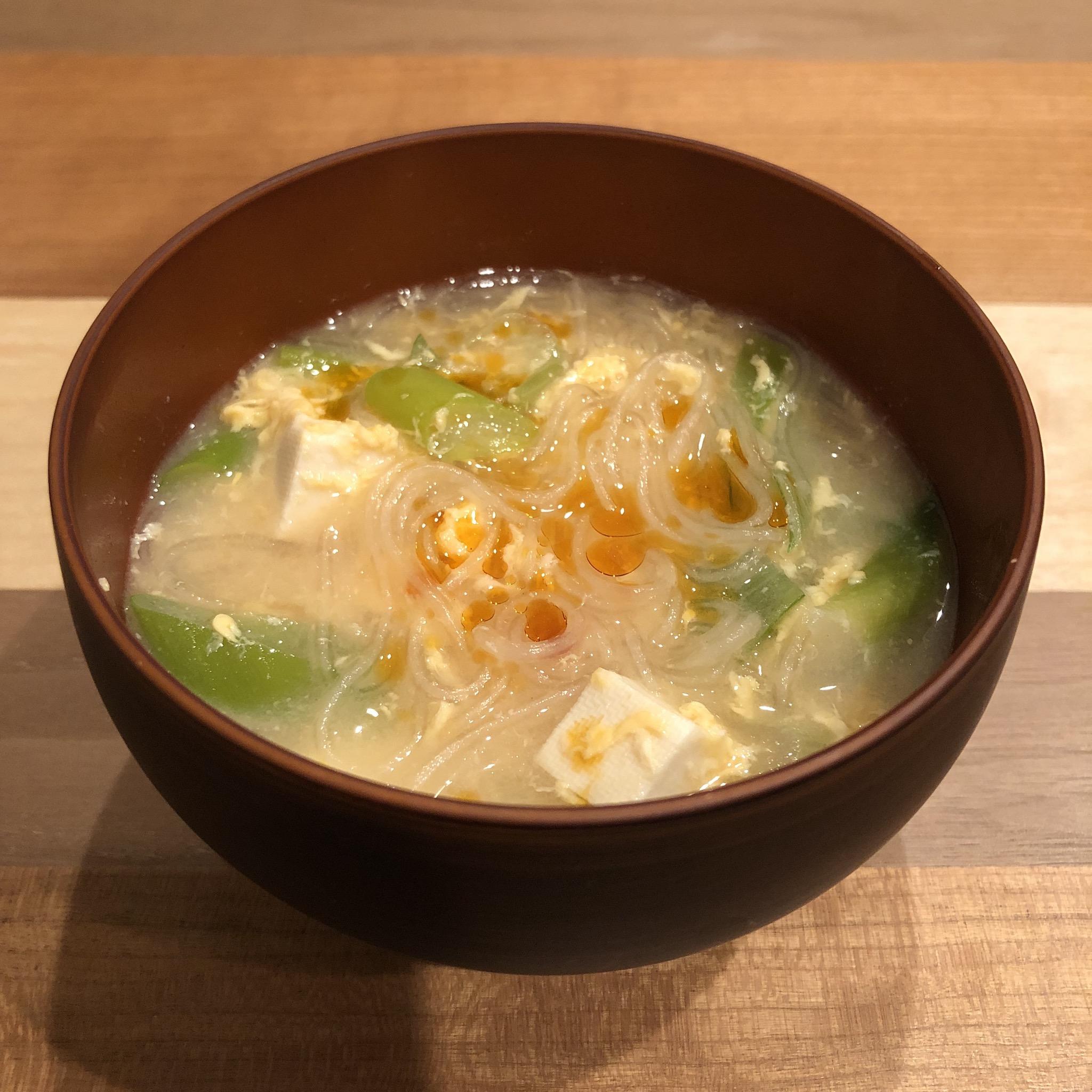 CELLOPHANE NOODLES miso soup