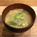 BROAD BEAN miso soup