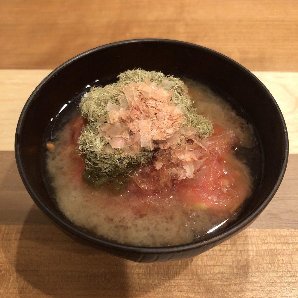 SHAVED KELP (tororo-konbu) miso soup