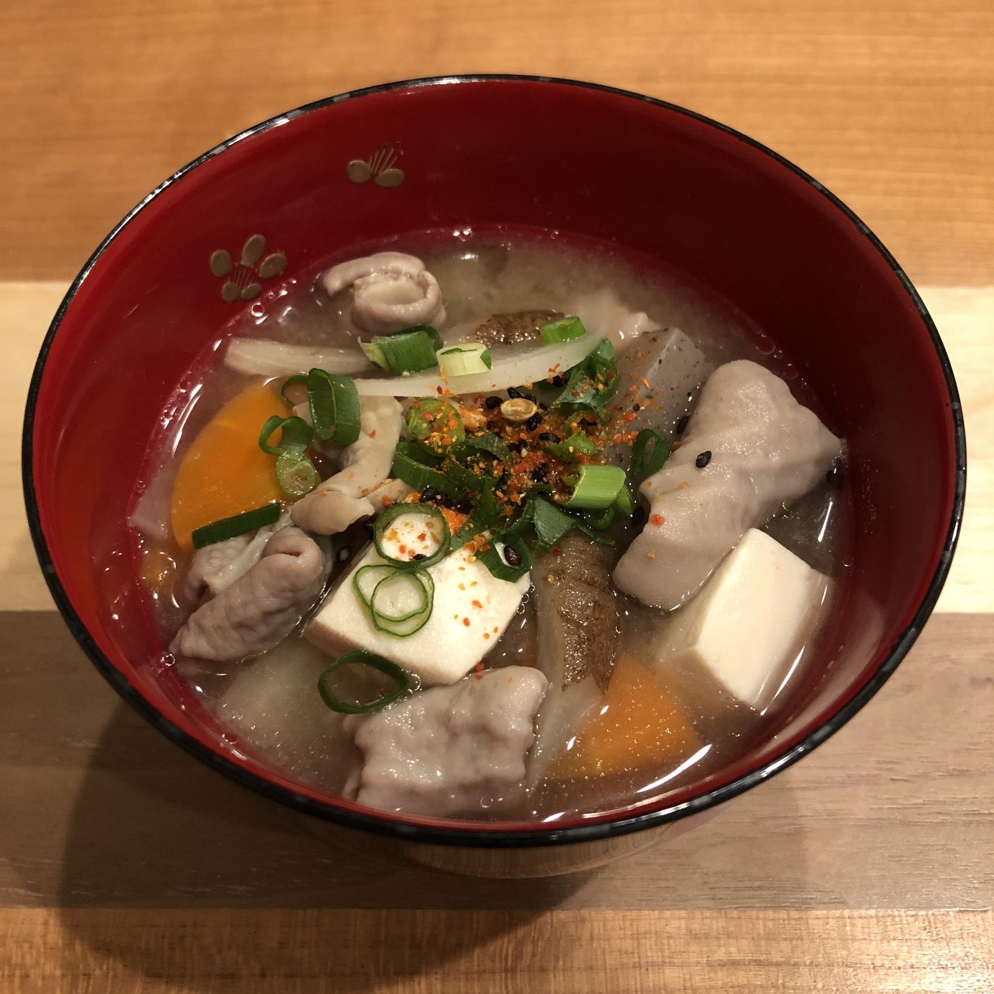 PORK TRIPE miso soup