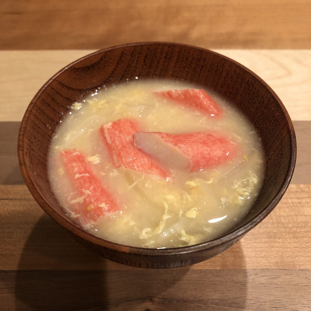 CRAB STICK miso soup