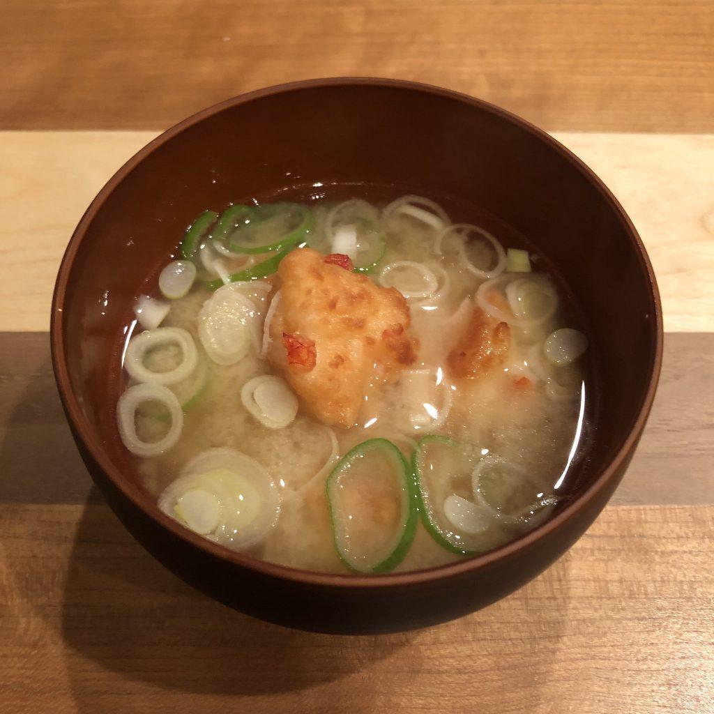 SHRIMP FRITTERS miso soup