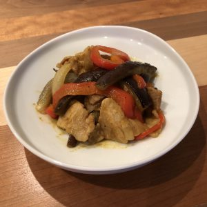 PORK & EGGPLANT CURRY STIR-FRY RECIPE