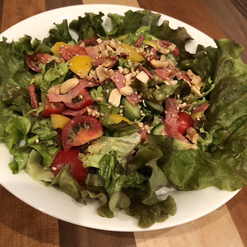 BEST CHOPPED SALAD WITH MISO DRESSING