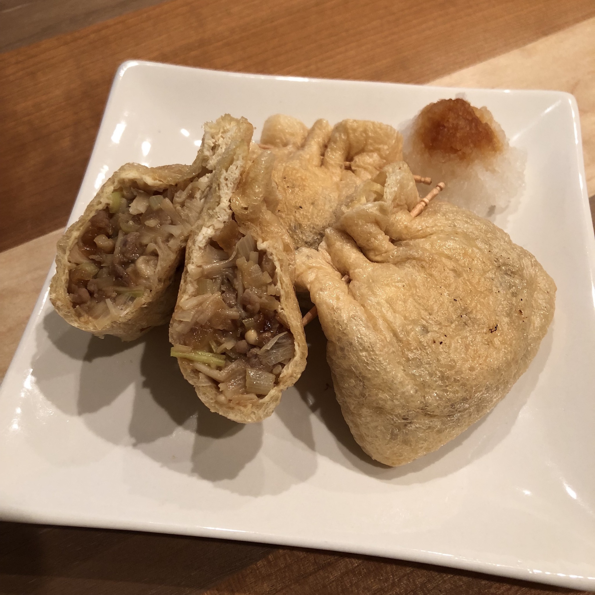 FRIED TOFU STUFFED WITH GREAT MEAT MISO