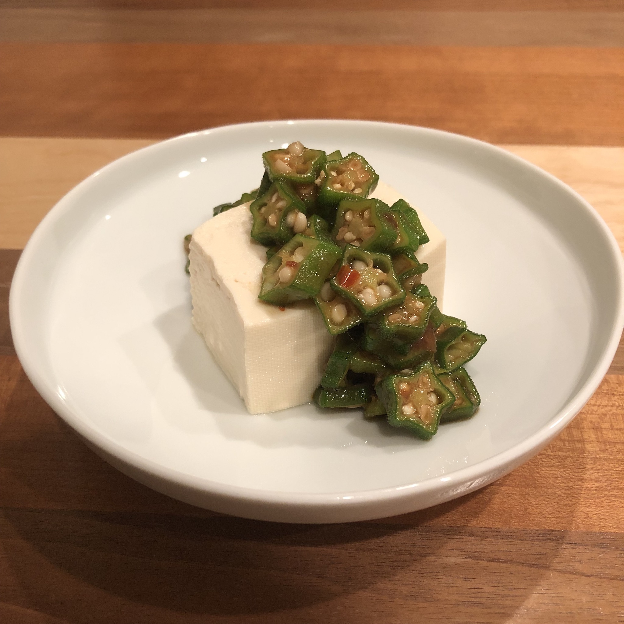 COLD TOFU WITH SPICY OKRA