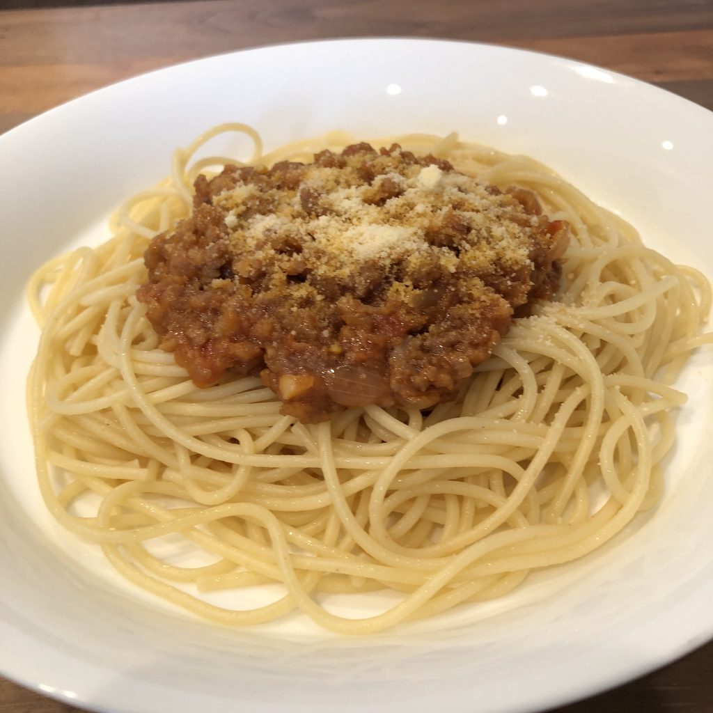 MEAT SAUCE PASTA WITH MISO