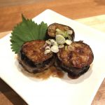 GRILLED EGGPLANT SANDWICHES WITH GROUND MEAT